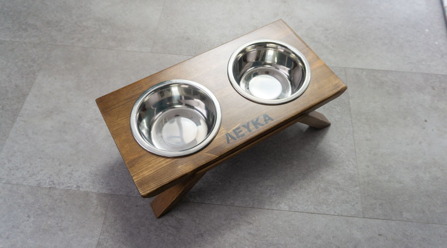 Stainless steel bowls with stand 4legs.gr
