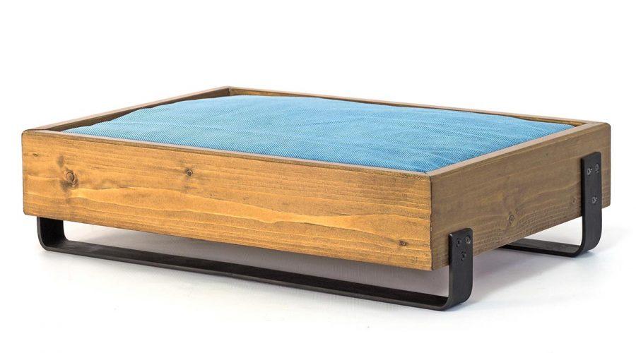 Κρεβάτι σκύλου με μαξιλάρι ξύλινο με μεταλλική βάση 4legs