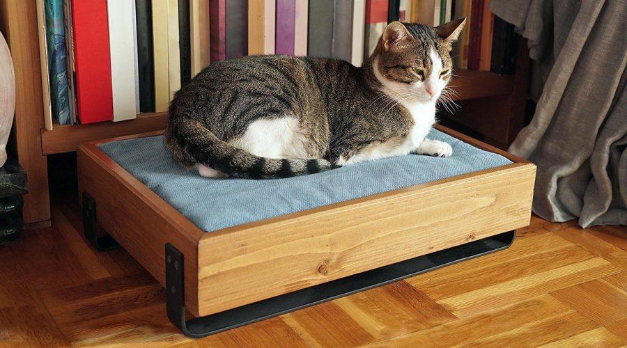 Κρεβάτι γάτας χειροποίητο ξύλινο 4legs