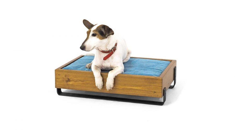 Κρεβάτι σκύλου με μαξιλάρι ξύλινο 4legs