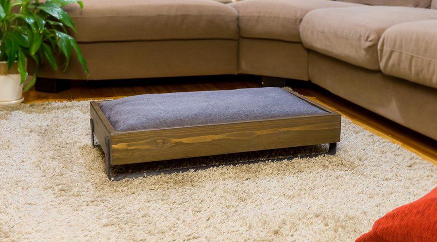 Κρεβάτι σκύλου-γάτας με μαξιλαρι ξύλινο 4legs