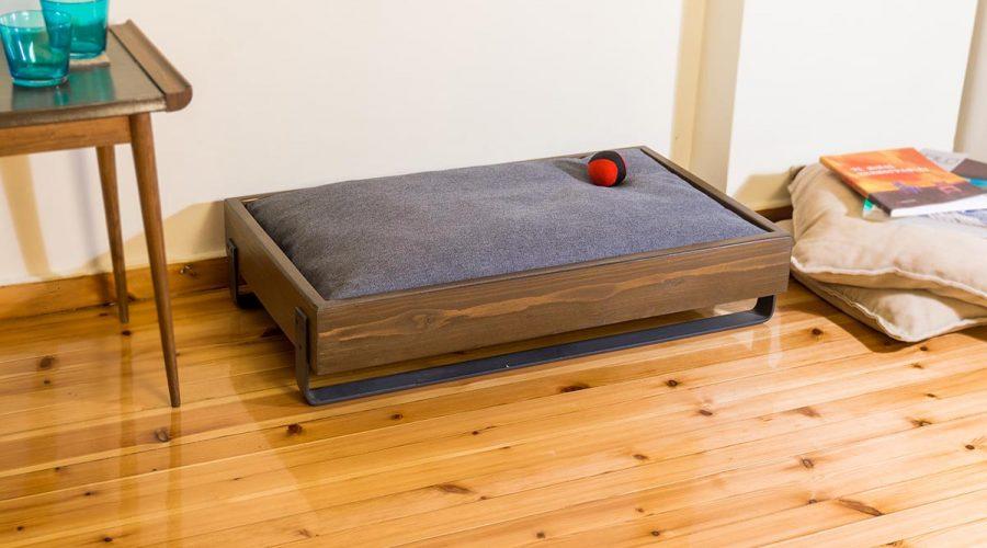 Κρεβάτι σκύλου-γάτας χειροποίητο ξύλινο 4legs