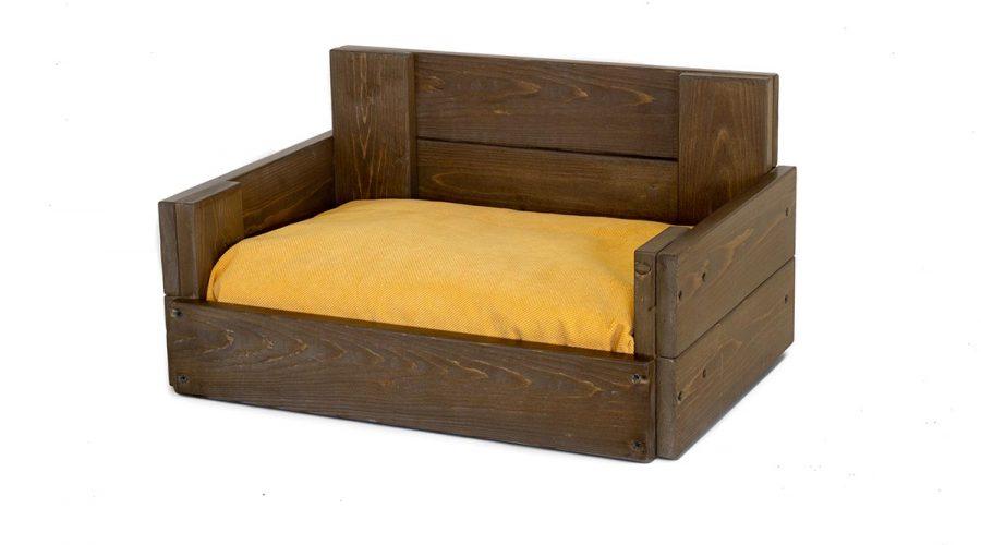Καναπές σκύλου ξύλινος με μαξιλάρι 4Legs