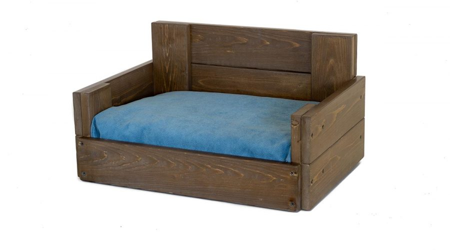 Ξύλινο χειροποίητο κρεβάτι γάτας-σκύλου 4Legs