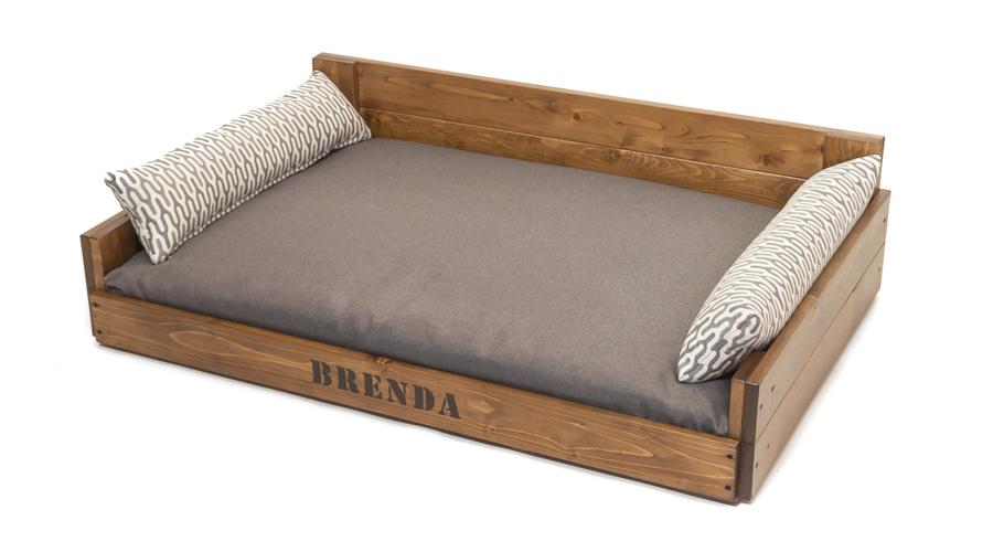 Χειροποίητο ξύλινο κρεβατάκι σκύλου 4legs